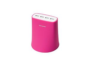 Jelly 4 Port USB 5.1 Amp 110-220V Charge Station Pink