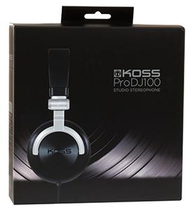 Koss Headphones Pro DJ100 Full Studio Black/Silver