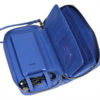 Power Pochette Leather 3000mAH w/RFID Protection Blue