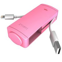 iWalk Charge It 2600mah Batt w/built-in Lightning MFI Pink