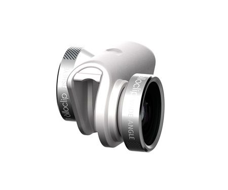 Olloclip iPhone 6/6+ 4-in-1 Silver Lens and White Clip