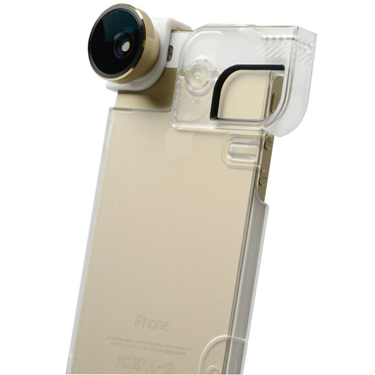 Olloclip iPhone 5/5S/SE 4-in-1 Gold Lens/WhtClip/Clr Case