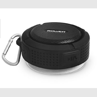 Bower Bluetooth Speaker Rugged IPX4 Waterproof w/ Mic Black