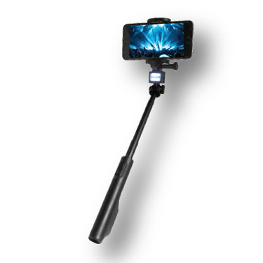 """Bower Selfie Stick/Power Bank LED Fits Phones 3.5"""" to 6.1"""""""