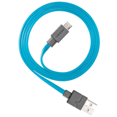 Ventev Charge & Sync Micro USB Cable 6ft Blue