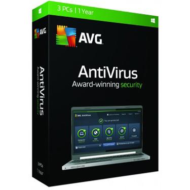 AVG 2017 Antivirus 3-PC 1Yr BIL