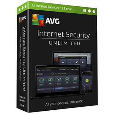 AVG 2017 Internet Security Unlimited Device 1Yr BIL