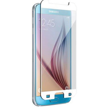 Nitro Galaxy S6 Tempered Glass White Bezel