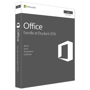 Microsoft Office 2016 Famille et Etudiant Mac Ver. Francaise