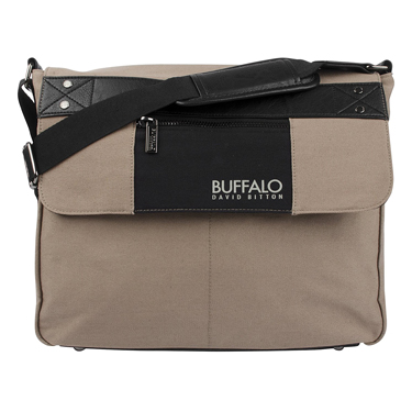 Buffalo Messenger Bag 15.6in Frank Collection Tan & Black