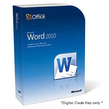 Microsoft Word 2010 Digital Codekey