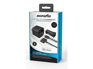 Digipower Wall & Car 1amp w/30Pin & Micro Cables
