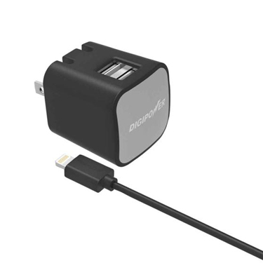 Digipower Wall Charger 2.4amp InstaSense 2P w/5ft Lightning