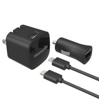 Digipower Wall & Car 1amp w/Lightning & MicroCables