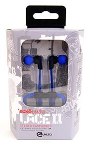 Ecko Lace 2 Earbuds w/Inline Mic Blue