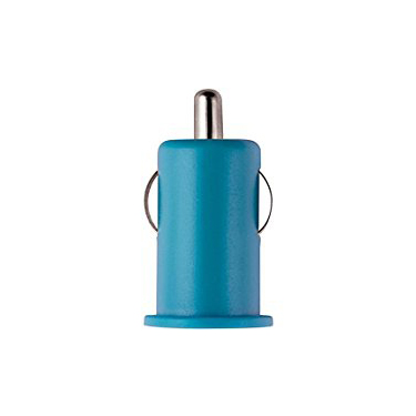 Colour Burst Car Charger 1Amp 1 USB Port Blue
