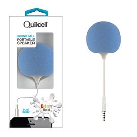 Colour Burst Sound Ball 3.5mm Portable Speaker Blue Blaze
