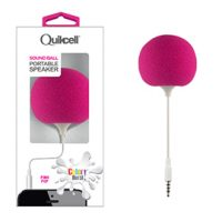 Colour Burst Sound Ball 3.5mm Portable Speaker Pink Pop