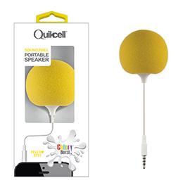 Colour Burst Sound Ball 3.5mm Portable Speaker Yellow