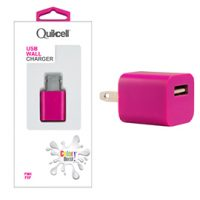 Colour Burst Wall Charger 1 USB Port 1amp Pink