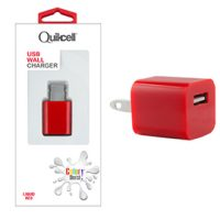 Colour Burst Wall Charger 1 USB Port 1amp Red