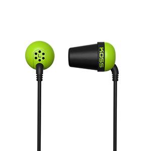 Koss Earbud Plug Memory Foam Noise Isolating Green