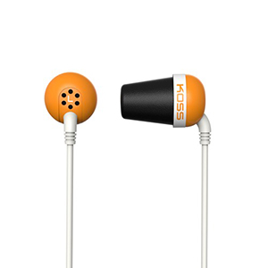 Koss Earbud Plug Memory Foam Noise Isolating Cushion Orange