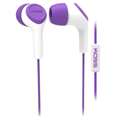 Koss Earbud KEB15 in Ear w/Mic Purple