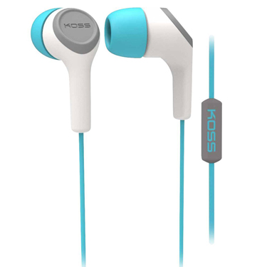Koss Earbud KEB15 in Ear w/Mic Teal