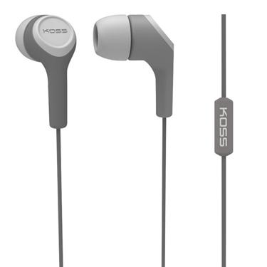 Koss Earbud KEB15 in Ear w/Mic Gray