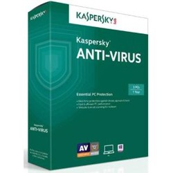 Kaspersky Antivirus 2018 3-User 1Yr English