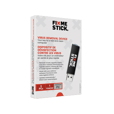 FixMeStick Computer Virus Removal Device 3-User 1Yr BIL