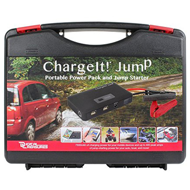 ChargeIt! Jump 7500 mAh Power Pack & Car Jumpstarter Blk Cas