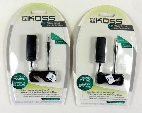 Koss VC20 3.5mm headphone in-line volume amplifier