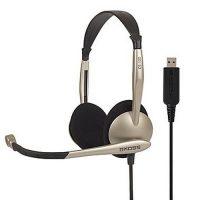 Koss Headphone CS100-USB On Ear Mic Gold/Black
