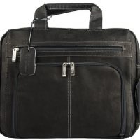 Kenneth Cole Columbian Leather 15.4in Laptop Leather Black