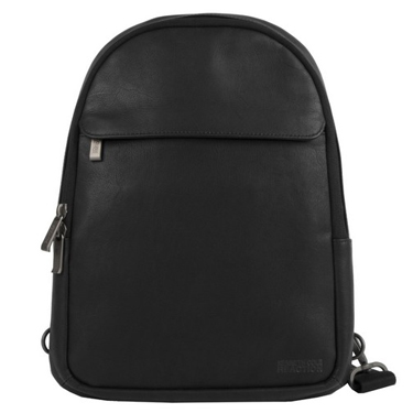 Kenneth Cole Colombian Leather 10.2in Backpack Sling Black