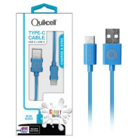 Colour Burst Charge & Sync Micro USB-C Cable Blue