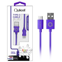 Colour Burst Charge & Sync Micro USB-C Cable Purple