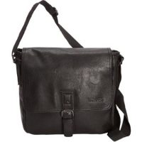 Kenneth Cole Reaction Flapover 15in Bag Black PU
