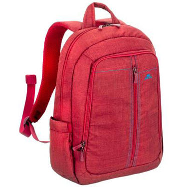 RivaCase Laptop Canvas Backpack 15.6in 7560 Red