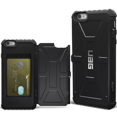 UAG iPhone 6+/6S+ Trooper Wallet Scout Black/Black