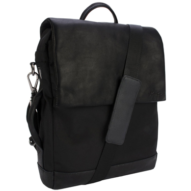 Kenneth Cole Nylon/Leather Flapover 15in Backpack
