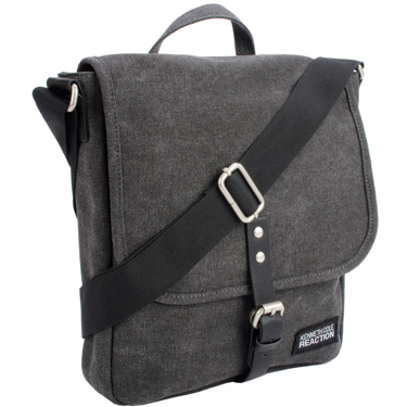 Kenneth Cole Reaction Flapover Tablet Canvas Charcoal