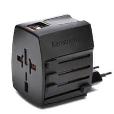 Kensington Travel Adapter International with Dual USB