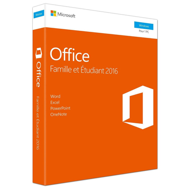 Microsoft Office 2016 Famille et Etudiant PC French