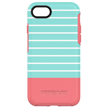 OtterBox iPhone 7/8 Symmetry Graphics Blue/Pnk Aqua Mint