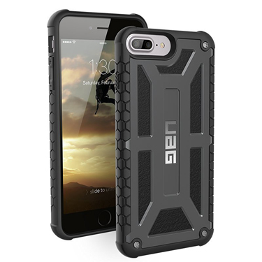UAG iPhone 6S+/7+/8+ Monarch Black Graphite