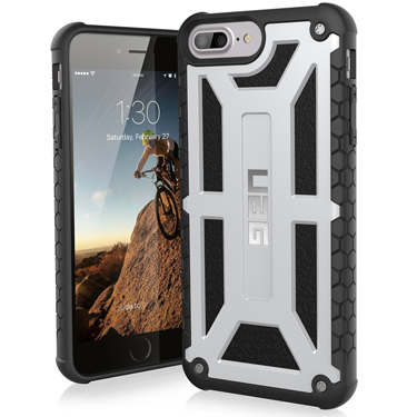 UAG iPhone 6S+/7+/8+ Monarch Silver/Black Platinum