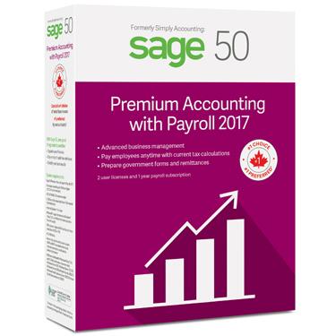 Sage 50 Premium 2017 w/Payroll 2-User